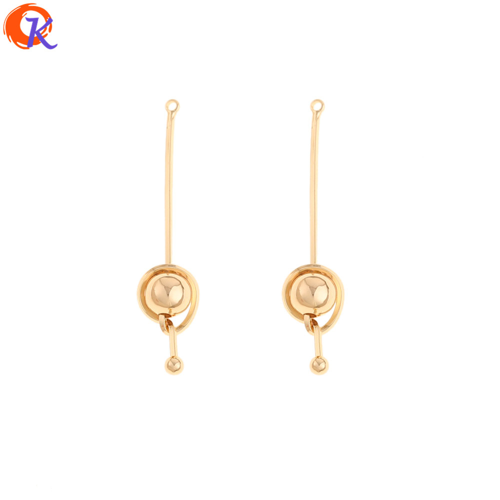 Cordial Design 30Pcs 8*38MM Jewelry Accessories/Charms/Genuine Gold Plating/Knot Shape/Hand Made/Earring Findings/DIY Making