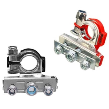 Auto Car 12V Car Battery Terminals Connector Switch Clamps Quick Release Lift Off Positive & Negative image