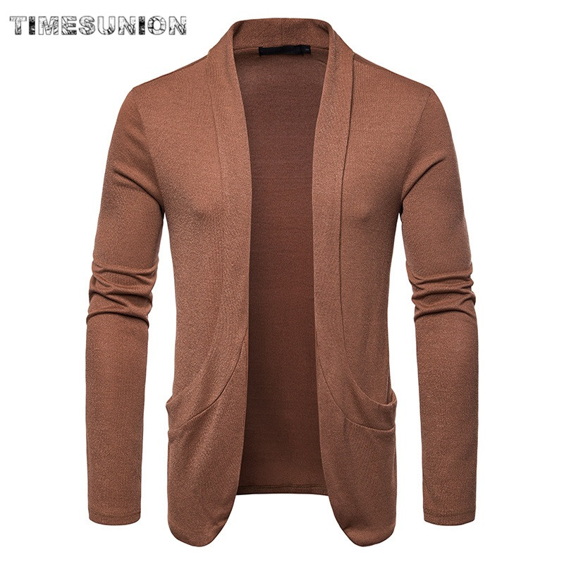 Cardigan Men Sweater New Spring Autumn Fashion Black Cardigan Coats Mens Brand Clothing Male Lapel Casual Knitwear for Men