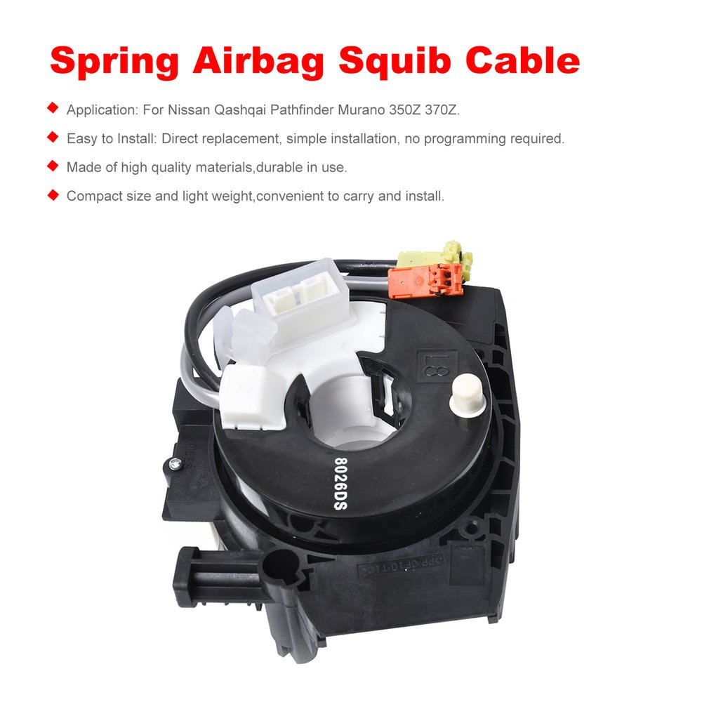 AIRBAG Assy Clock Spring Spiral Cable Squib Ring Part B5567-JD00A B5567JD00A