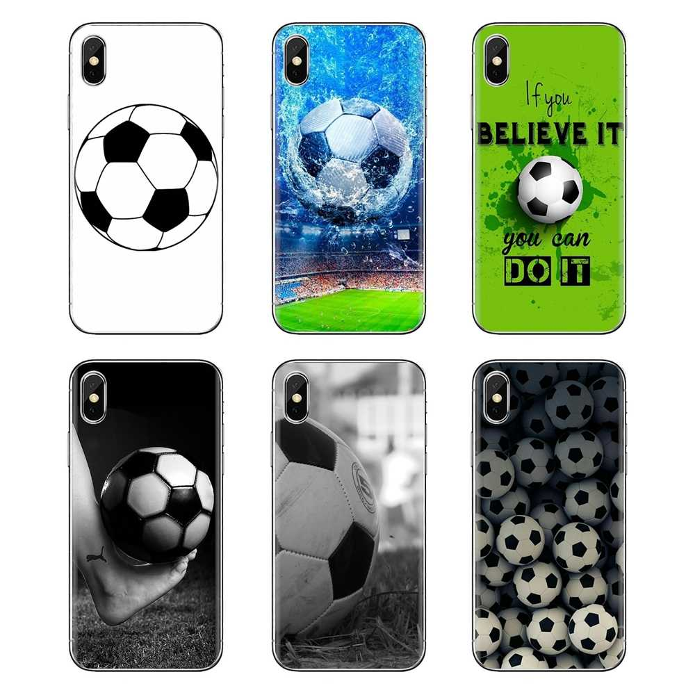 Coque transparente souple couvre ballon de football design pour iPod Touch Apple iPhone 4 4S 5 5S SE 5C 6 6S 7 8 X XR XS Plus MAX