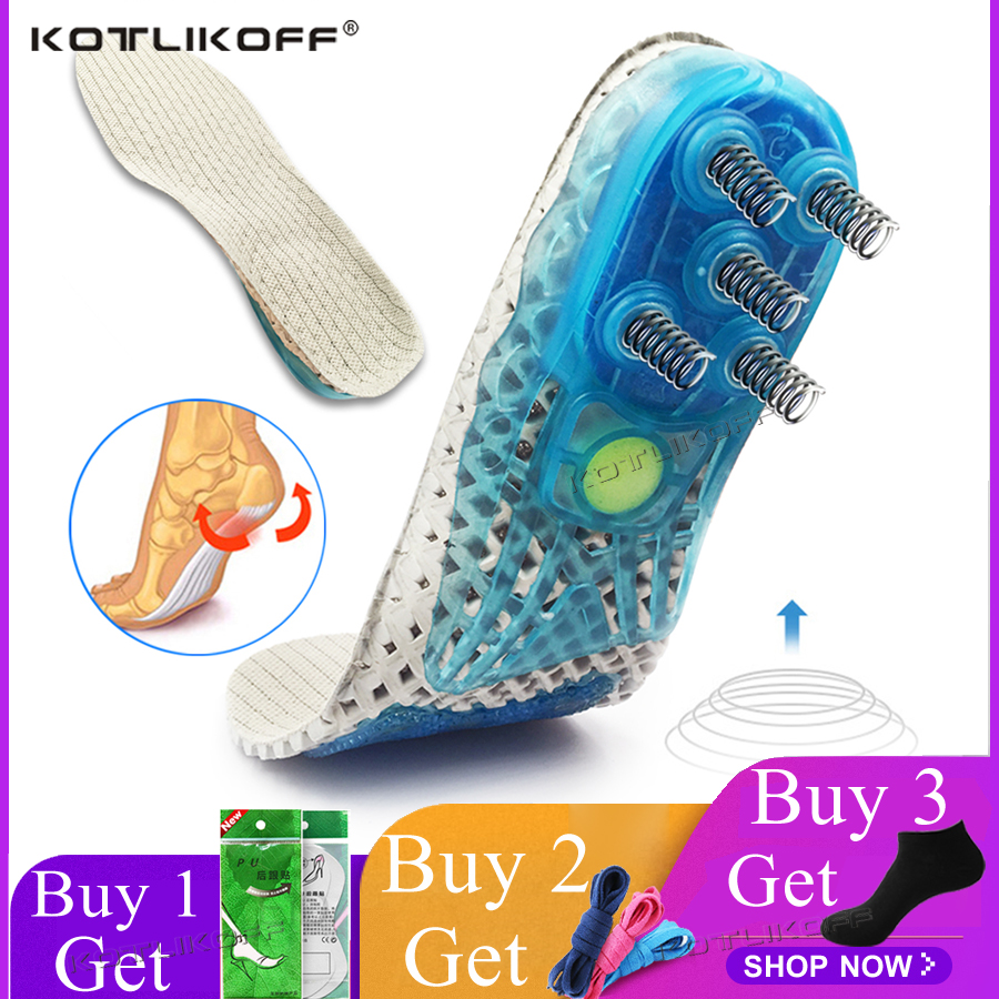 Insoles For The Feet Orthopedic For Running Sports Spring Shock-Absorbant Shoes Pads Heel For Shoes Foot Protection Shoe Inserts