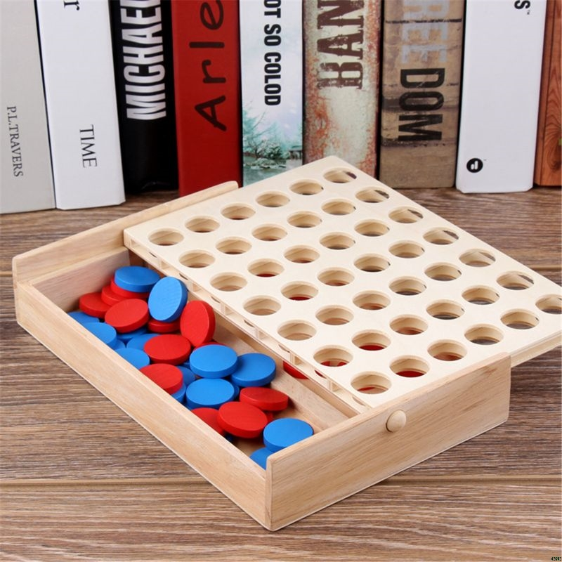 Four in a Row Wooden Game 15