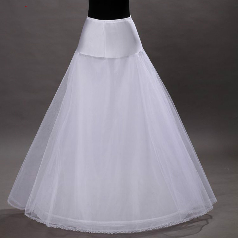 Bridal White Or Black Tulle Petticoat For Wedding Dress Long Crinoline Woman Underskirt Girls Hoop Skirt Pettycoat