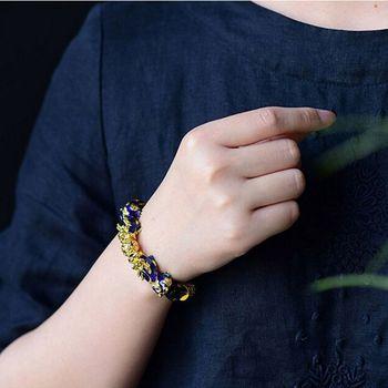 Unisex Obsidian Stone Beads Bracelets Pi Xiu Wristband Wealth and Good Luck Chain Women Men Religious Strand Bracelets 5