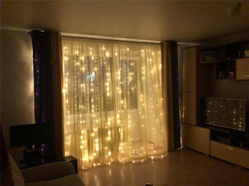 Coversage Рождественский светодиодный светильник s занавес гирлянда 3X3 м светодиодный Сказочный декоративный наружный внутренний домашний Свадебный Декоративный сетчатый светильник