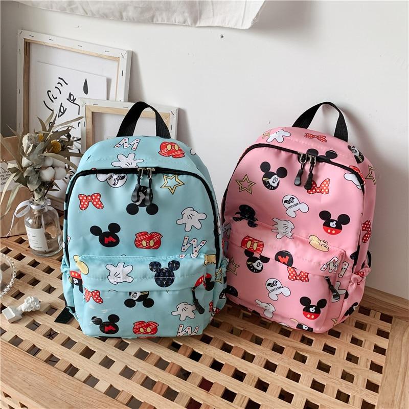 New Cute Mickey School Bag Minnie For Boys Girls Baby Bag Children Backpack Kindergarten Backpack Kid School Bags Satchel