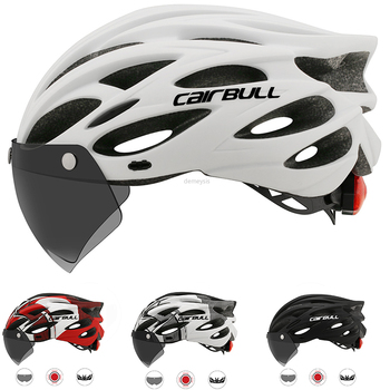 Cairbull Ultralight Cycling Helmet with Removable Visor Goggles Bicycle Rollers Riding Helmets Motorcycle Protective Bike