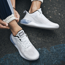 Plus Size Breathable Casual Shoes Men Lightweight Fashion Sneakers Mesh Lace Up Flats Outdoor Walking Men Shoes red leather men casual shoes lace up high tops flats fashion patchwork men s sneakers round toe plus size customized board shoes