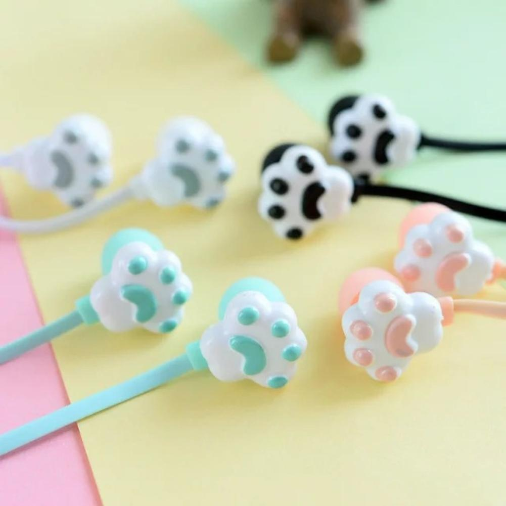 2020 New Lovely Creative Cartoon Cute Cat Claw 3.5mm Jack Wired In ear Headphones Childs Earphone With Mic for IPhone Xiaomi
