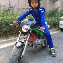 Детский автомобильный гоночный костюм, куртка для мотогонок, штаны, комбинезон для мальчиков и девочек, 3 цвета: черный, синий и красный