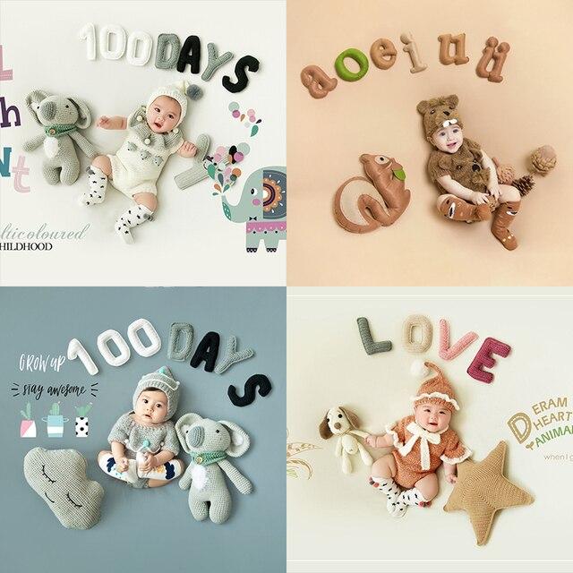 Newborn 100 Days Photo Frame Costume Photo Background Prop Creative DIY Theme Photographic Clothing Studio Shooting Photo Prop 1