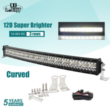 CO LIGHT 52 inch 975W 12D Curved Off road LED Light Bar 3-Rows Combo Beam Barra Led 12V 24V Work for Jeep 4x4 UAZ