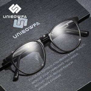 Image 3 - Armação de óculos de miopia óptica de armação de óculos de prescrição redonda retro vintage transparente masculino óculos
