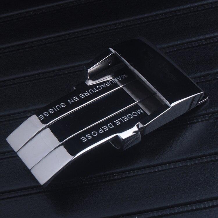 Bracelet de montre en acier inoxydable poli 20mm fermoir boucle en acier pour Bracelet de Bretiling ceinture en cuir de caoutchouc