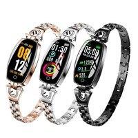 H8 Women Smart Watch Blood Pressure Monitor Heart Rate Fitness Bracelet Smartband Women Waterproof Sports Smart Wristband Ladies