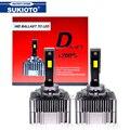 SUKIOTO M10 Error Free Car Light LED D1S D2S D3S D4S D8S D5S LED Headlight Bulb 90W 10000LM 12V 6000K D Series Auto Headlamp