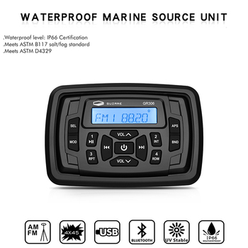 Deniz Stereo Bluetooth radyo ses su geçirmez FM AM tekne ses sistemi alıcı MP3 oynatıcı RV ATV UTV SPA yat motosiklet