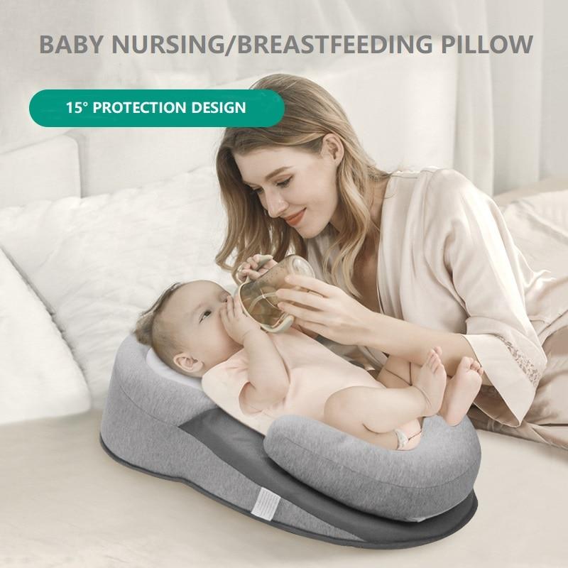 2020 Baby Kissen Neugeborenen Schlaf Unterstützung Kissen Konkaven Weiche Cartoon Kleinkind Kissen Verhindern Flat Head Baby Kissen Reflux Bett