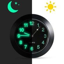 Mini Car Luminous Auto Air Vent Clip Clock Interior Quartz Analog Watch Decor KY ybotti number analog quartz watch
