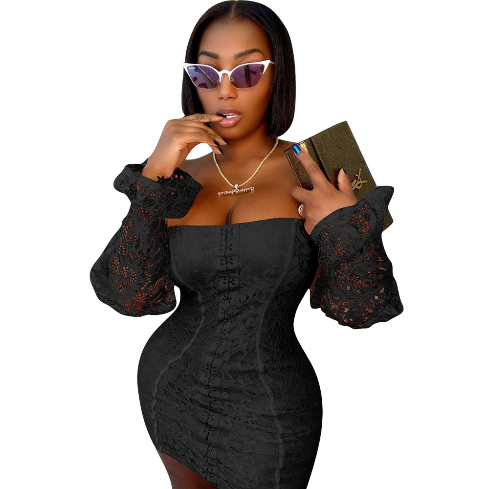 Купить сексуальный прозрачный кружевной корсет женское мини платье