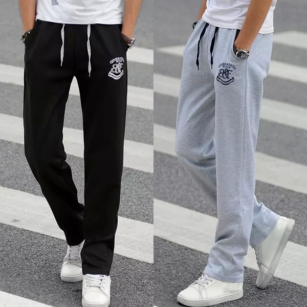 2019 Men'S Wear Spring And Summer Autumn Gymnastic Pants Fashion Thin Men's Korean-style Straight-Cut Large Size Casual Pants Sp