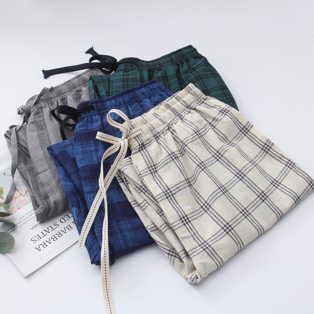 Мужские пижамные брюки в клетку, Мужская пижама в клетку, весна-лето, мужская пижама, одежда для сна, брюки, модель Sk567890g