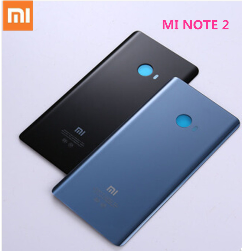 Original Xiaomi Mi Note 2 Back Cover 3D Glass Rear Battery Door Housing bag With Adhesive Glue and LOGO For MI NOTE2 Phone Case-in Mobile Phone Housings & Frames from Cellphones & Telecommunications