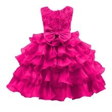 Hot Sale Girl Dress Sleeveless Princess Bow-knot Flower Decoration Wedding Party Cute Beautiful Mesh Girls