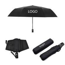 Paraguas plegable totalmente automático para coche, sombrilla resistente al agua con logotipo, color negro, para BMW Mini, Audi, Mercedes Benz, VW, Lexus y Toyota
