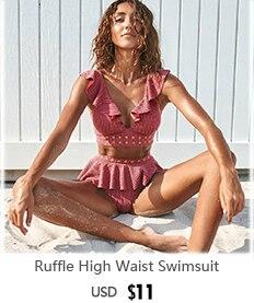 H4f40c102fbd84ef68b6a4d305c23c1b0q 2019 New Sexy High Waist Bikini Swimwear Women Swimsuit Off Shoulder Bathing Suit Biquini Ruffle Brazilian Bikini Set Beachwear