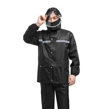 Thick Nylon Waterproof Raincoat Jacket Adult Set Men Raincoat Survival Stylish Outdoor Impermeable Travel Rain Coat 60YY