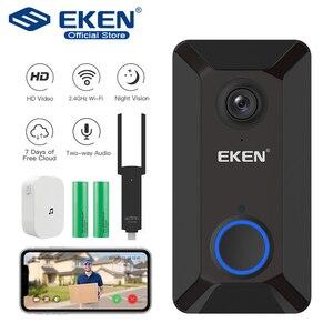 Image 1 - EKEN V6 Smart WiFi Video Doorbell Camera IP Door Bell Wireless Home Visual Intercom APP Control Security Camera