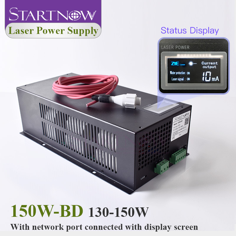 Startnow 150W-BD CO2 150 Вт лазерный источник питания 130 Вт с дисплеем MYJG-150 220В 110В для лазерного устройства