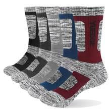 YUEDGE marka erkek çorap yastık pamuk ekip açık spor yürüyüş batonu çorap kalın kış sıcak erkekler için 5 çift