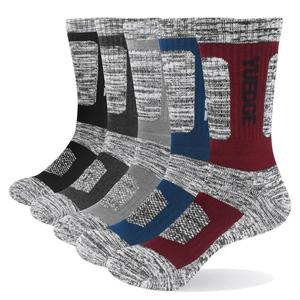 Image 1 - YUEDGE Brand Mens Socks Cushion Cotton Crew Outdoor Sports Walking Hiking Socks Thick Winter Warm For Men 5 Pairs