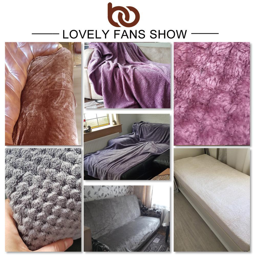 BeddingOutlet <font><b>Fleece</b></font> <font><b>Blanket</b></font> Soft Color Plush for Gift