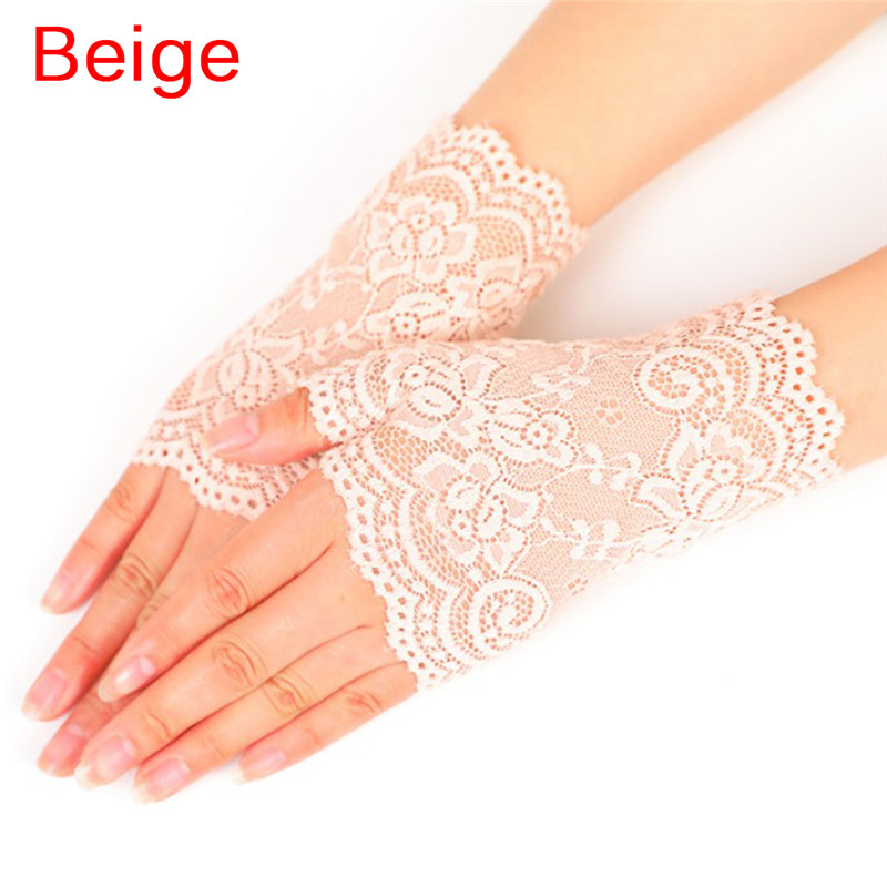 H4f4190ce96234d6ca322d46ec7de072eg - Lady's Fingerless Black Floral Lace Gloves Summer Thin UV-Proof Driving Gloves Gothic Sexy Short Hollow White Red Party Gloves