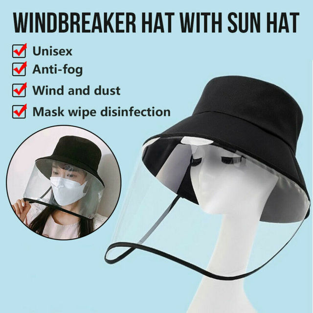 Detachable Protective Fisherman Hat Anti-saliva Hat Women UV Protection Mask Hat Dustproof Face Shield 4