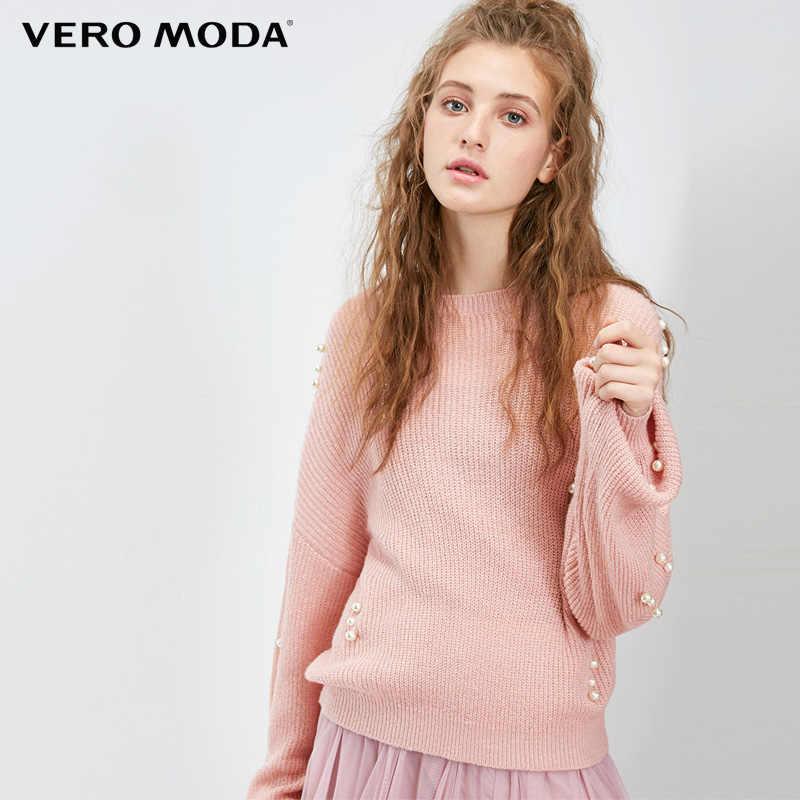 Vero Moda Winter herfst parel decoratie Lange mouw trui | 318413523