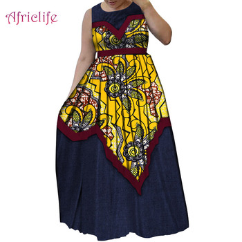Sell Fast Patchwork Pleated Skirt for Women High Quality Sleeveless African Classic Tyle Women Clothing WY5518