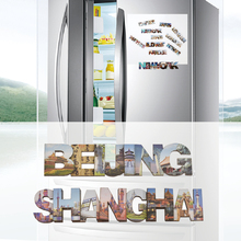 Double wood 3d magnetic refrigerator magnet, BeiJing,ShangHai tourist souvenirs, fridge magnets, home decoration