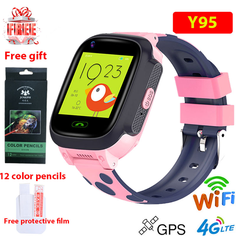 4G kids smart watch IP67 warerproof smartwatch GPS wifi tracker camera video call watch baby watch smartwatch Y95 PK A36E