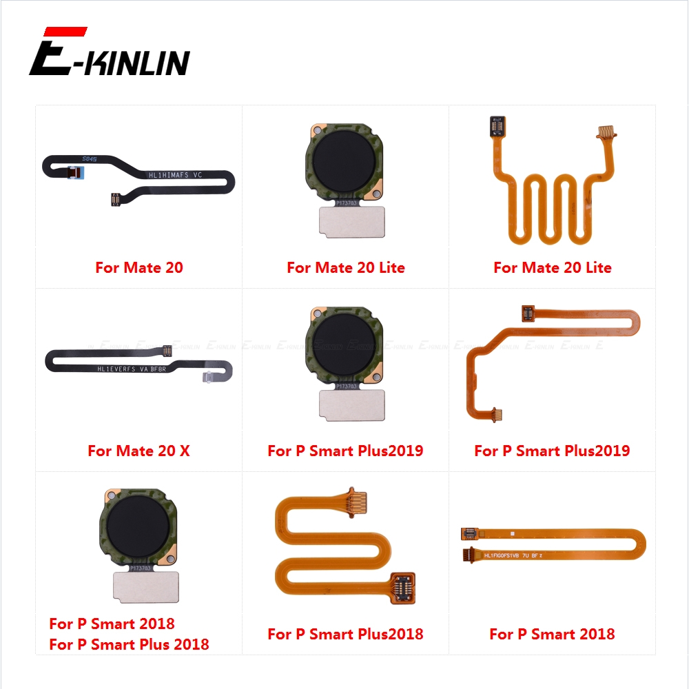 Home Return Button Key Fingerprint Sensor Scanner Connector Flex Cable Touch ID For HuaWei Mate 20 Lite X 20X P Smart Plus 2019