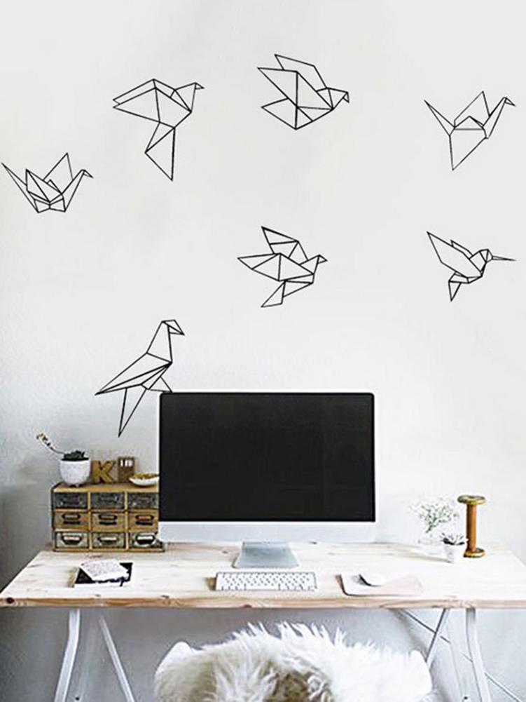 Nieuwe Aankomst Vliegende Vogels Muursticker For a Thuis Decals Laat Het Tekens Behang Woonkamer Slaapkamer Vinyl Decoraties