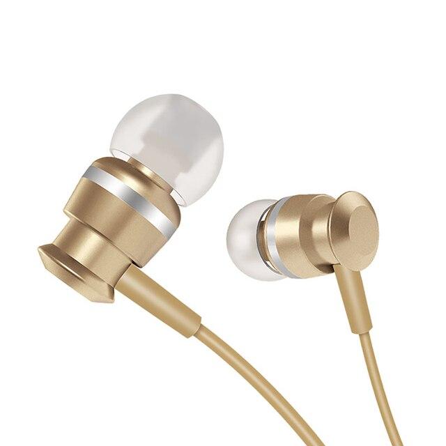 Joyroom Wired אוזניות ב אוזן אוזניות 3.5mm ספורט אוזניות עבור טלפון סטריאו בס צליל מתכת מיקרופון עבור Xiaomi סמסונג