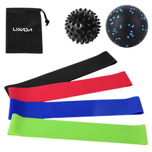 Resistance-Loop-Bands Booty-Band Training Spiky-Ball Exercise Elastic Yoga Home Gym