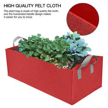 Fabric Raised Garden Bed Square Garden Flower Grow Bag Vegetable Planting Bag Planter Pot with Handles for Plants Flower