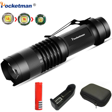Mini Led flashlight Super Bright torch Q5/T6/L2 linterna led lanterna 8000LM Zoomable fishing Camping Bicycle Light 14500/18650