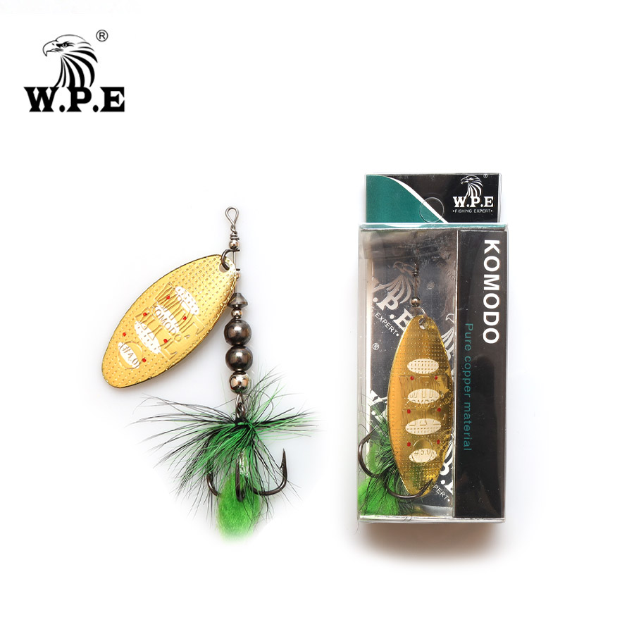 W.P.E Spinner Lure 2pcs 8.8g/13g/20.5g Metal Spoon Fishing Lure Hard Bait Feather Carp Fishing Bait Fishing Tackle Pike Wobblers